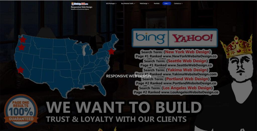 Really bad web design