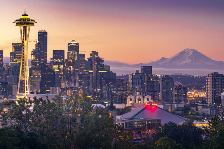 Seattle Morning with Mt. Rainier