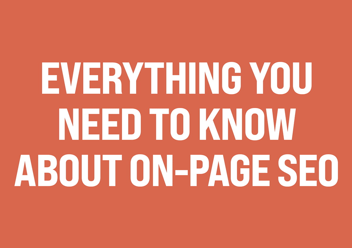 on page SEO blog post